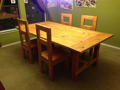 modern farmhouse dining room table   chairs diy