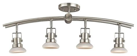kichler structures 4 light track lighting in brushed