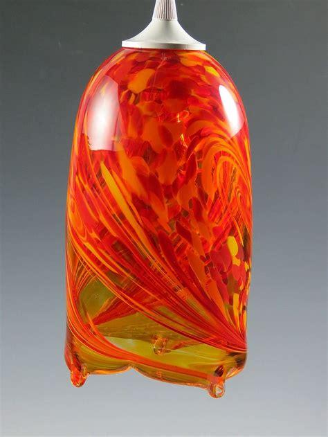 Flame Pendant Light By Mark Rosenbaum Art Glass Pendant