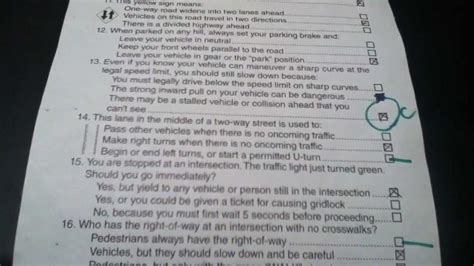 north carolina written out california dmv 2013 answer sheet youtube