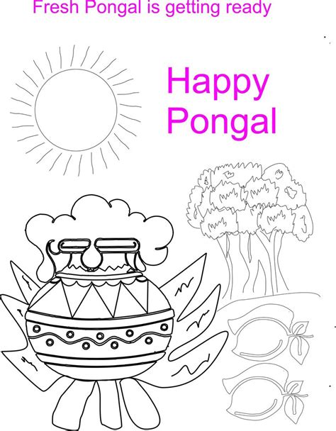 free coloring pages of for pongal festival