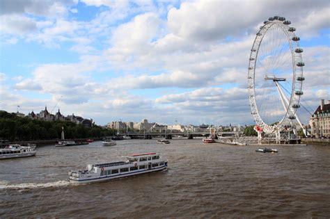 thames river boat london eye london eye and thames free stock photo public domain
