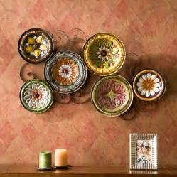 tuscan kitchen decor wall: scattered italian plates wall art kitchen tuscan living room sei