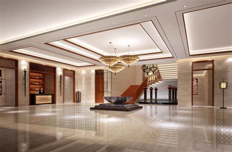 Hotel Lobby Design Aviation Hotel Lobby Interior Design 3d House