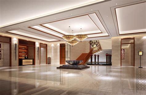 Aviation hotel lobby interior design