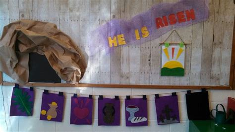 easter bulletin board  holy week banner