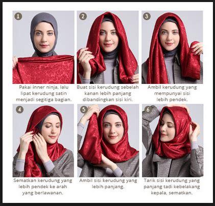 tutorial jilbab segi empat menutupi dada tutorial hijab satin segi empat pesta by didowardah