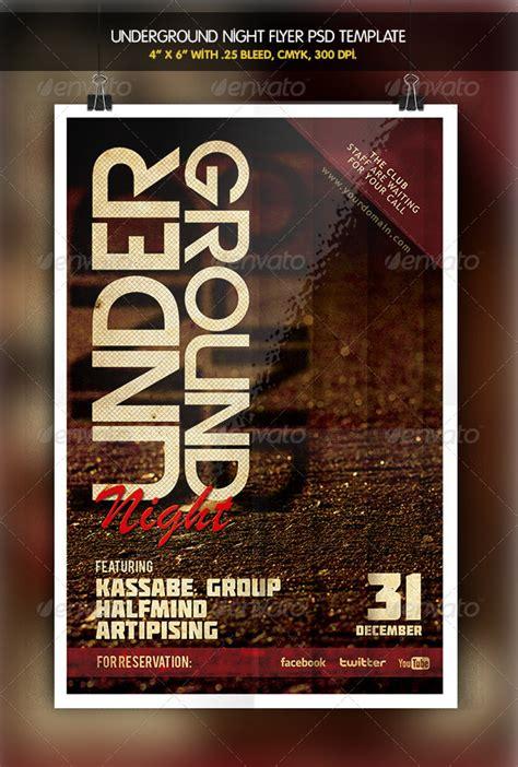 dafont molot underground party night flyer graphicriver