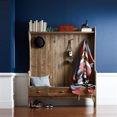entry storage bench with coat rack rustic wood entry bench with storage and coat rack zin home