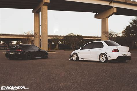 dsm mitsubishi his hers justin jax s mean evo eclipse