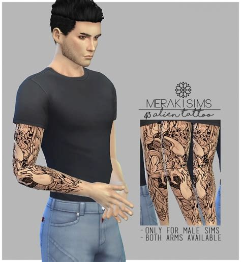 sims 4 tattoos at merakisims 187 sims 4 updates