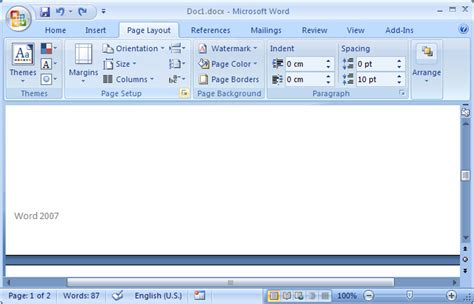 word layout tab ms word 2007 make footers different for odd and even pages