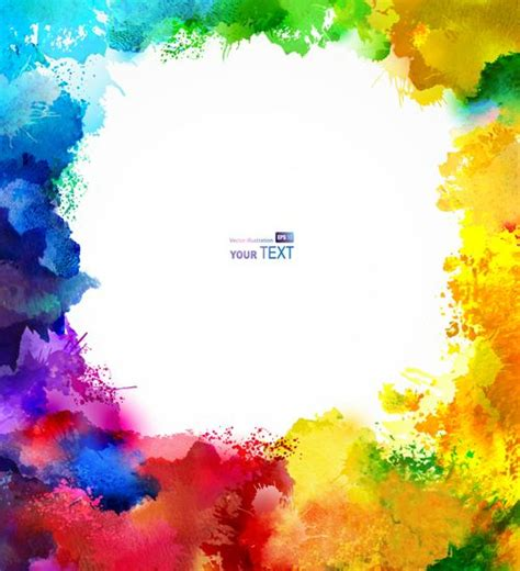 multicolor watercolor splash background illustration vector 02 free etikety