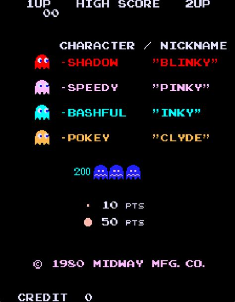 pacman ghost colors how do the ghosts in pac decide where to go