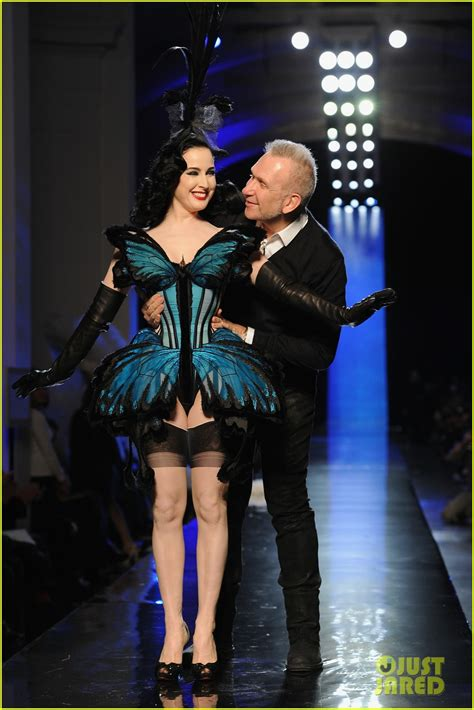 Gaultier Show A Come True For Dita by Sized Photo Of Dita Teese Hits Runway For