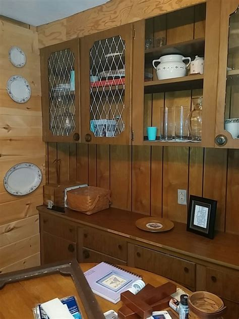 hometalk ideas refurbish pressboard hutch and buffet