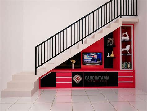 desain lemari tv bawah tangga lemari bawah tangga archives jasa interior kediri desain