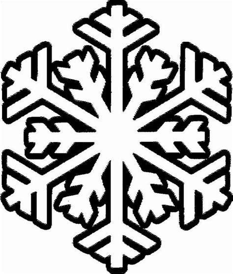 small snowflake coloring page snowflake colouring pictures clipart best