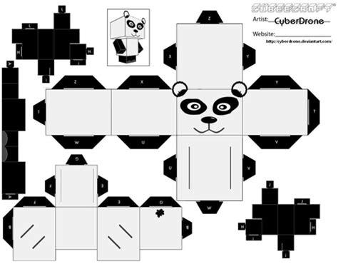 Papercraft Panda - panda paper free printable papercraft templates