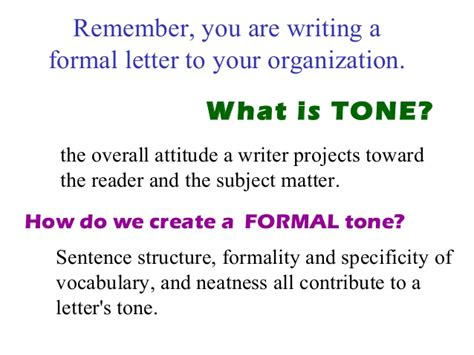 Business Letter Writing Language And Tone Business Letters How To Write A Business Letter
