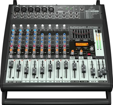 Mixer Behringer 12 Channel behringer pmp500 europower 12 channel powered mixer 500