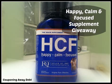 Supplement Giveaways - the happy calm focused supplement giveaway miss frugal mommy