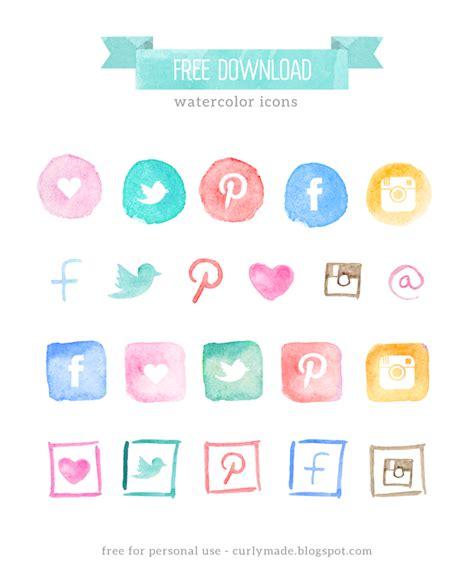 social media icons newhairstylesformen2014 com free watercolor social media icons blog restyle