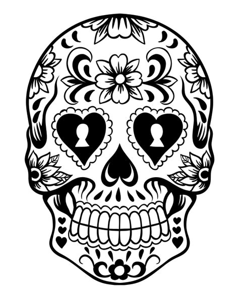 day of the dead sugar skull coloring pages sugar skull coloring page az coloring pages