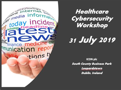 healthcare cybersecurity workshop dublin ireland