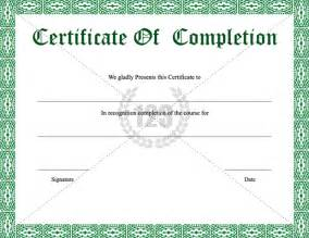template of certificate of completion pin certificate of completion templates on