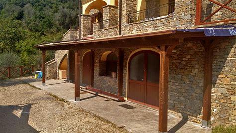 veranda in legno lamellare strutture in legno lamellare con infissi o tende with foto