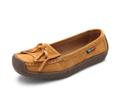 womens moccasin loafers 9 color us size 5 9 fringe leather womens driving moccasin