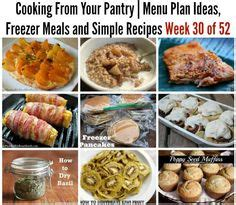 Pantry Chef Recipes by 1000 Images About Weekly Menu Plans On Weekly