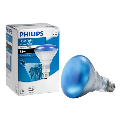 blue grow light bulbs philips 75 watt br30 agro plant grow light flood light