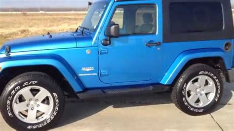 blue jeep 2 door jeep wrangler sahara automatic 2010 blue navigation 2 tone