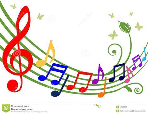 imagenes con notas sarcasticas notas musicales coloridas ilustraci 243 n del vector