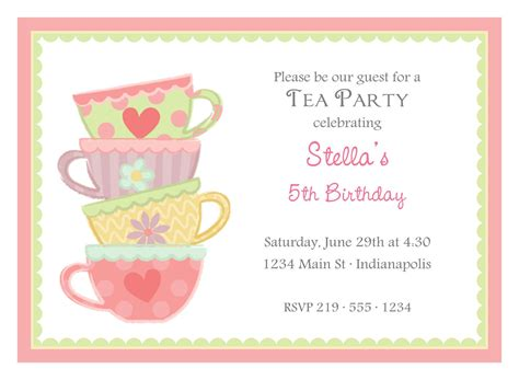 high tea invitation printable present ideas
