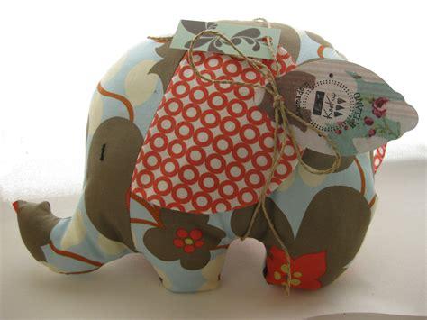Soft Toys Handmade - personalised soft elephant cushion handmade with