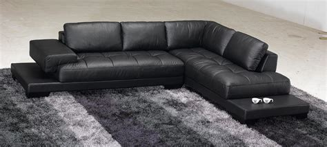 black leather modern sectional taking care the modern black leather sectional s3net