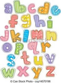 eps vectors of cute alphabet small letters illustration