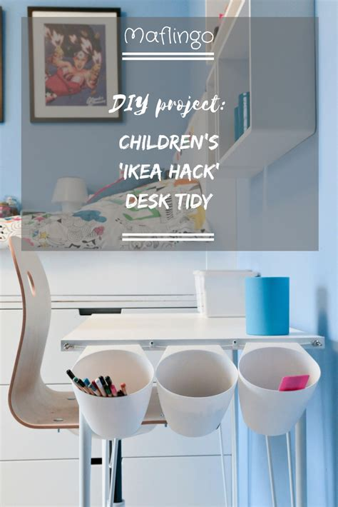 sunnersta ikea hack diy project children s ikea hack desk tidy