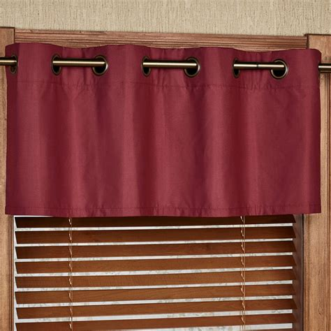 grommet valance curtains paramount solid color grommet window valance