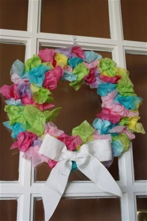 Tissue Paper Crafts For Preschoolers - tissue paper easter wreath for toddlers and preschoolers