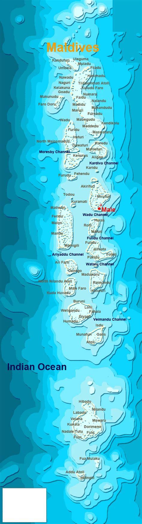 detailed map  maldives maldives asia mapsland