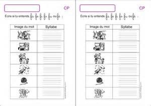 Calendrier 0 Compl2ter Exercices D 233 Criture Cp 233 Crire Les Syllabes Zaubette