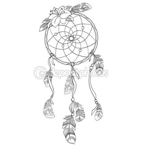 dreamcatcher tattoo template 7 best images about atrapa sue 241 o on pinterest dibujo a