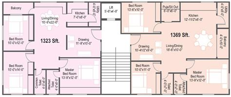 Flat Floor Plan by Overview Affordable Deluxe Flats At Defence Colony