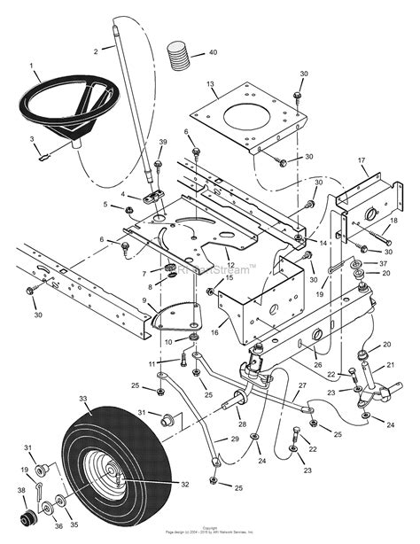 steering parts diagram murray 42576x92b lawn tractor 2000 parts diagram for