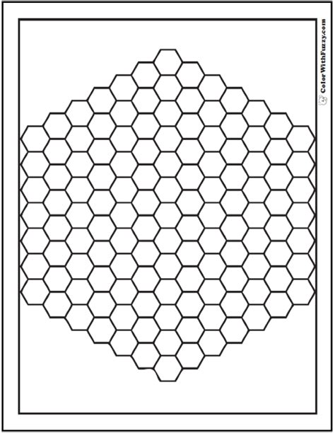 color pattern hex pattern coloring pages customize pdf printables