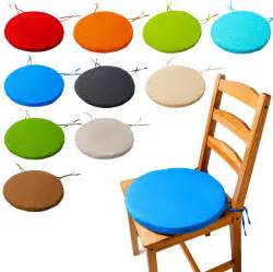 Outdoor Bistro Chair Pads Bistro Circular Chair Cushion Seat Pads Kitchen Dining Removable Cover New Ebay